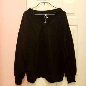 Tops - Slouchy V-Neck Sweatshirt